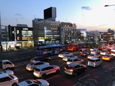 Traffic in Seoul, South Korea